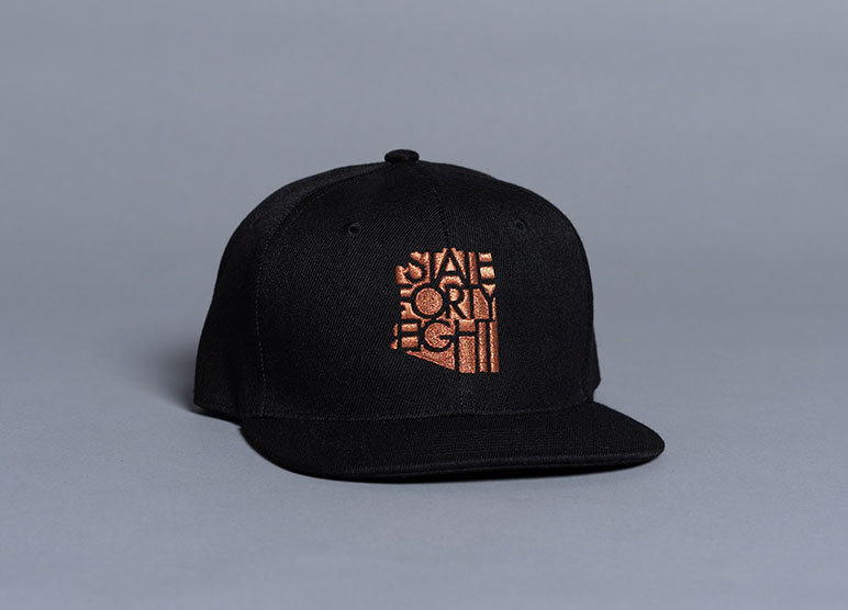 State Forty-Eight Snapback Classic | Black & Copper