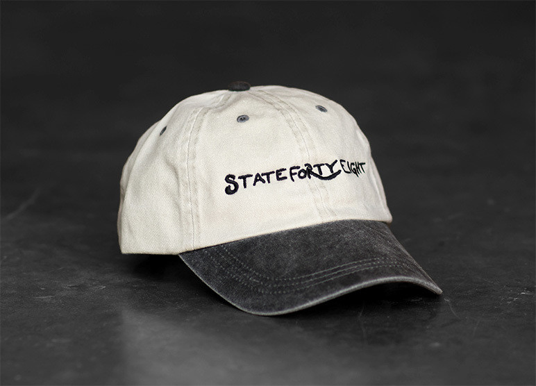 State Forty-Eight Dad Hat | Beige & Black