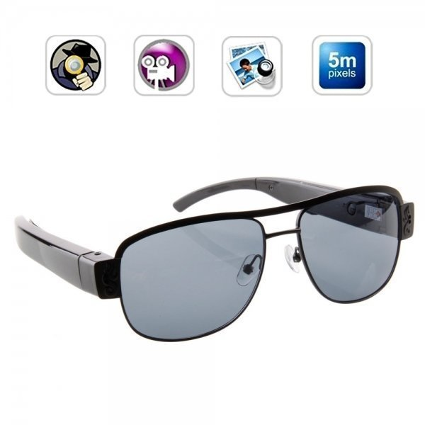 720P Fashion Ultra-thin Spy Sunglasses Camera Eyewear Hidden Camera BC21002606TM