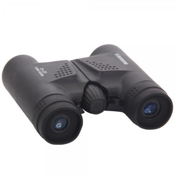 8x21 Powerview Compact Folding Roof Prism Binocular Black BC89008595TM
