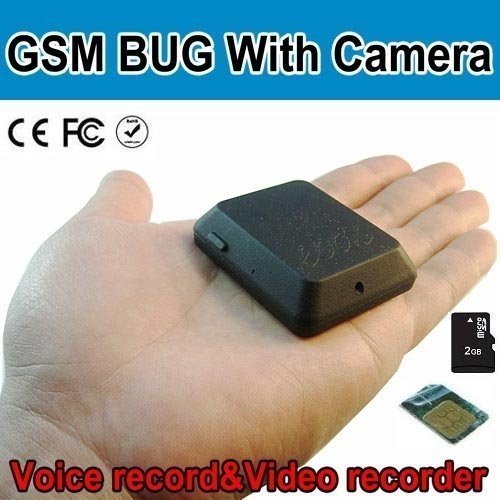 GSM listening deviece Quad Band GSM Bug With Camera SMS Control Take Photo Support TF Card BC540133CSC