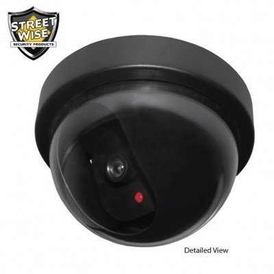 Dome Dummy Camera with Flashing LED Light