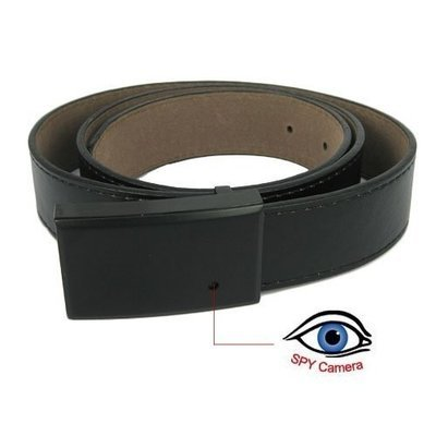 Black Leather Belt Style Spy Camera Support 16G