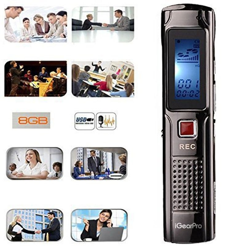 HD 8GB Digital Voice Recorder - Black TM86TT4835