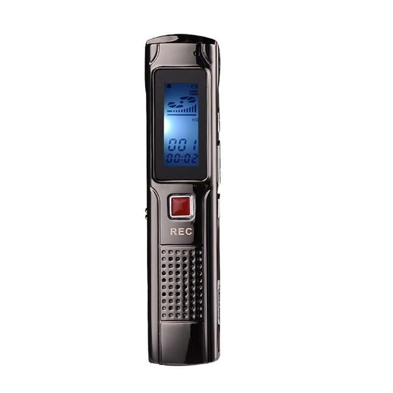 HD 8GB Digital Voice Recorder - Black