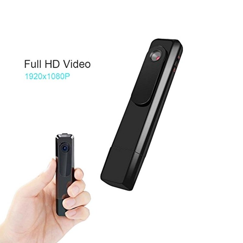 HD 1080P USB Digital Voice Recorder with Hidden Camera/Camcorder Black