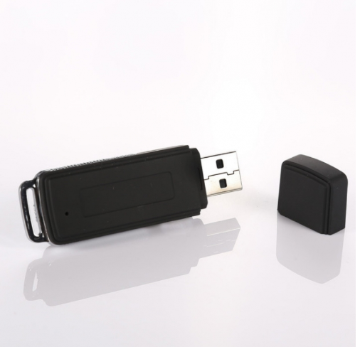 2pcs 8GB Keychains Digital Voice Recorder USB Flash Drive Black