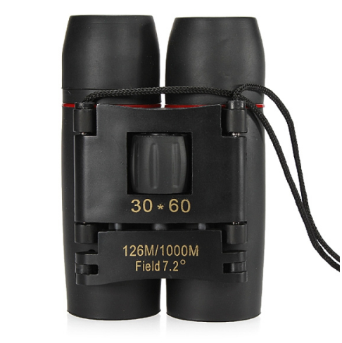 30 x 60 126X1000m High Power Folding Binoculars Telescope Black