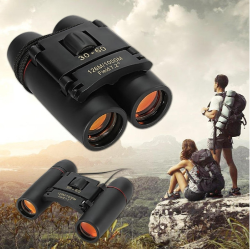 3pcs 30 x 60 126X 1000m High Power Folding Binoculars Telescope - Black