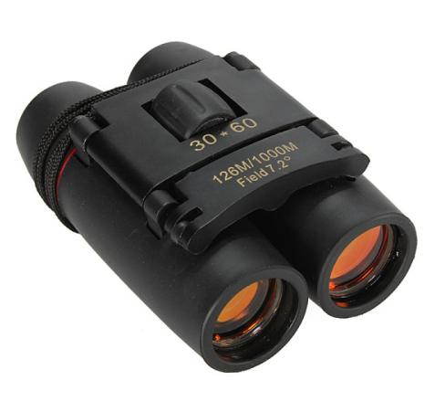6pcs 30 x 60 126X 1000m High Power Folding Binoculars Telescope - Black