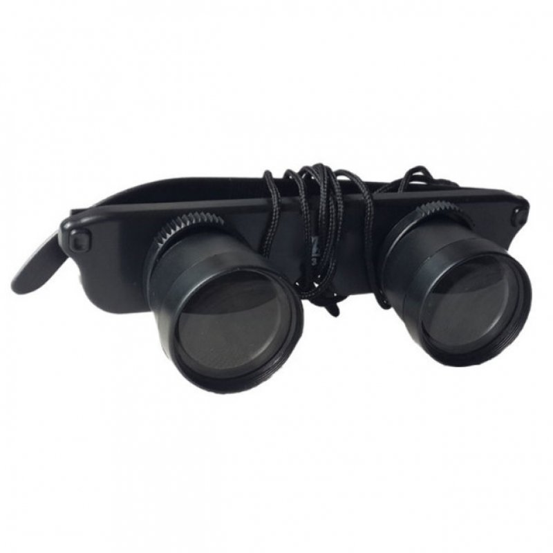 3X28mm HD Head-Mounted Binocular Telescope Optic Glasses Goggles Magnifier TM86038194