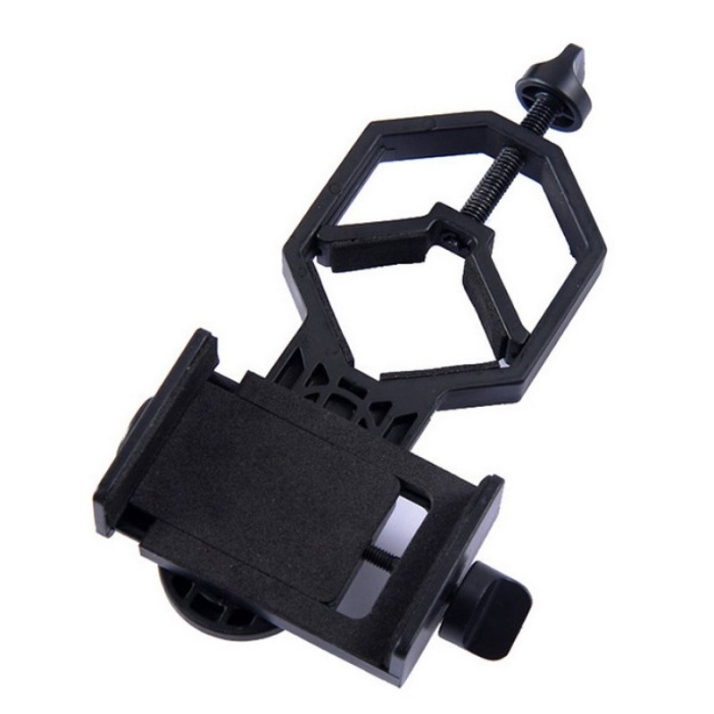 Cell Phone Bracket Adapter for Binocular Scope Telescope Microscope Black TM86022231