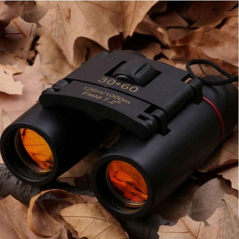 Canvas Sling Bag - Khaki & 30 x 60 Compact Folding Night Vision Binoculars