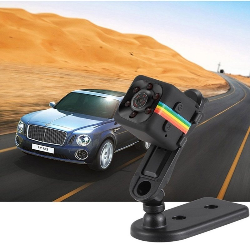 SQ11 Full HD 1080P Mini DV DVR Camera Dash Cam IR Night Vision - Black