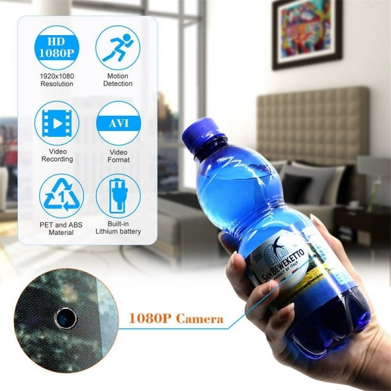 1080P HD Hidden Water Bottle Spy Camera Motion Detection Camcorder TM86034935