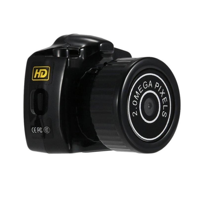 Y2000 Smallest Camera HD Digital Video Recorder DVR Black