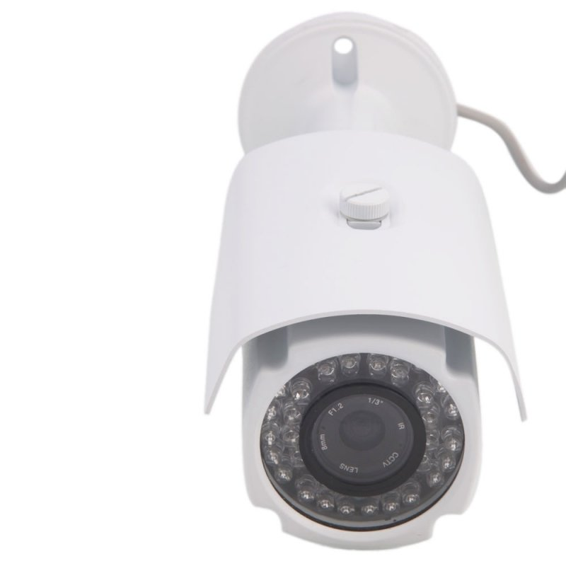 "1/3"" CCD 420TVL 36-IR LED 8mm Lens Waterproof Surveillance Camera White"