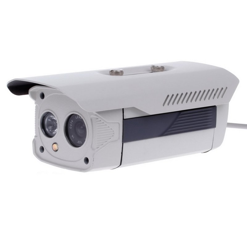 "1/3"" CCD 700TVL 45° PAL Surveillance Security Camera with 1-IR LED White + Grey TM86TT2483"