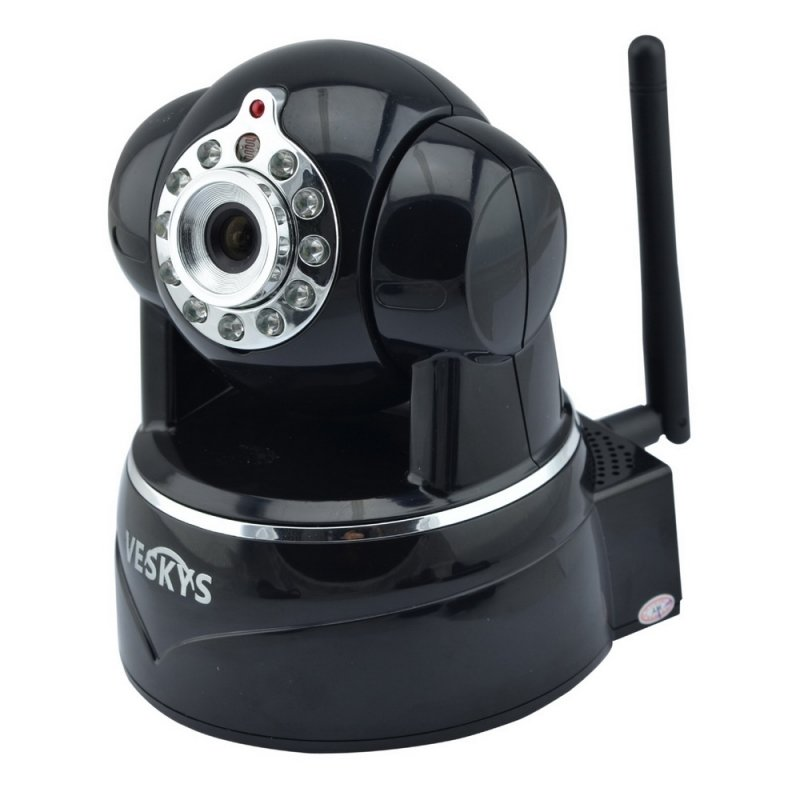 VESKYS N620W 720P HD Surveillance Wireless Network IP Camera with TF Slot/Two-way Audio Black
