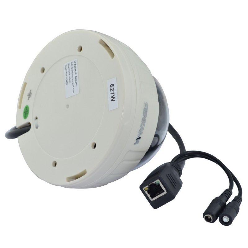 SENKAMA V-627W Wireless Wi-Fi 1.0MP CMOS P2P Night Vision Surveillance Indoor IP Camera with IR-CUT White