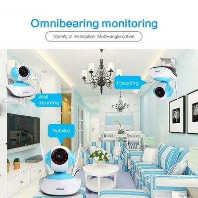 960P HD 1MP WIFI Indoor Surveillance IP Night Vision Camera w/ UK Plug