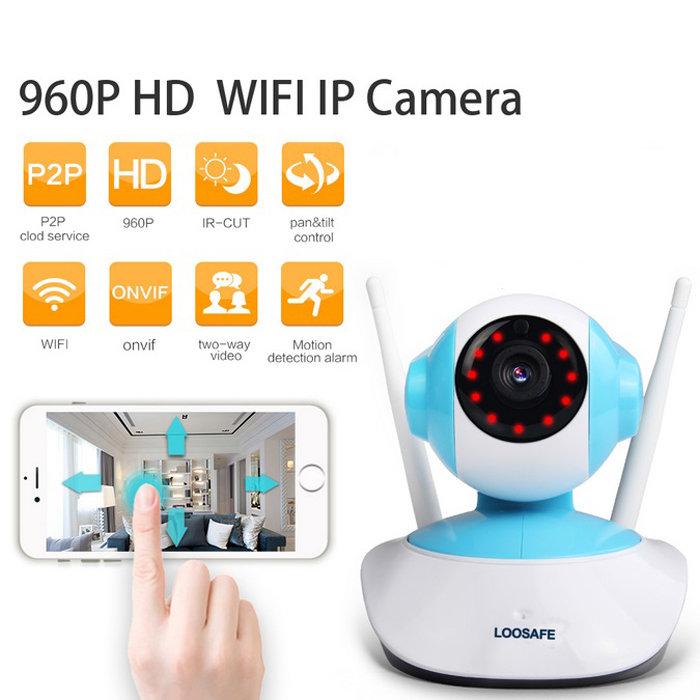 960P HD 1MP WIFI Indoor Surveillance IP Night Vision Camera w/ EU Plug TM86021893