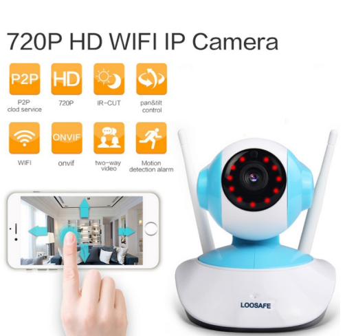 720P HD 1MP WIFI Indoor Surveillance IP Night Vision Camera w/ UK Plug TM86021891