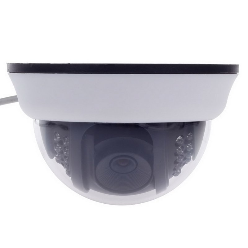 "1/3"" CCD 600TVL Surveillance Dome Camera with 22-IR LED White + Black Paisan PS-3428CF TM86TT2473"