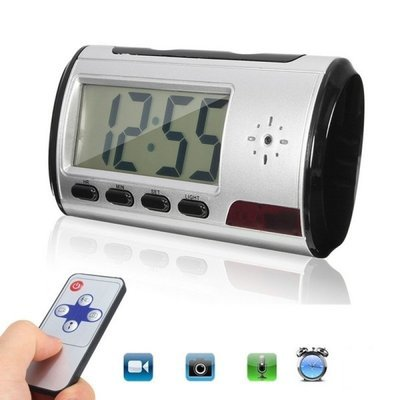 Hidden Camera Alarm Clock Micro Nanny Cam Motion Detection Mini DV DVR Video