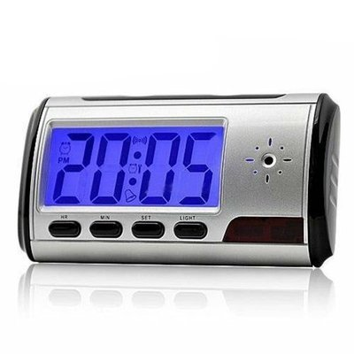 Digital Alarm Clock Video Hidden DV Camera with Motion Detection Black