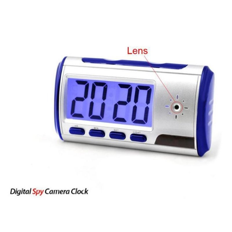 Digital Alarm Clock with Pinhole Camera + Motion Sensor Blue TM86TT5214