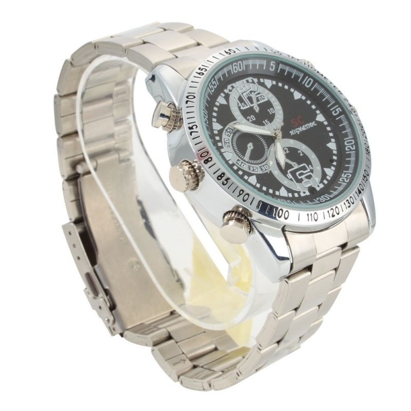 8GB HD Steel Belt Watch Camera Silver TM86TT2285