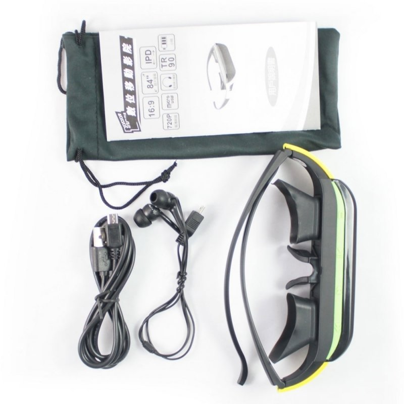 "Kartlon 84"" 16:9 HD Wide Screen Video Glasses Mobile Theater Random"