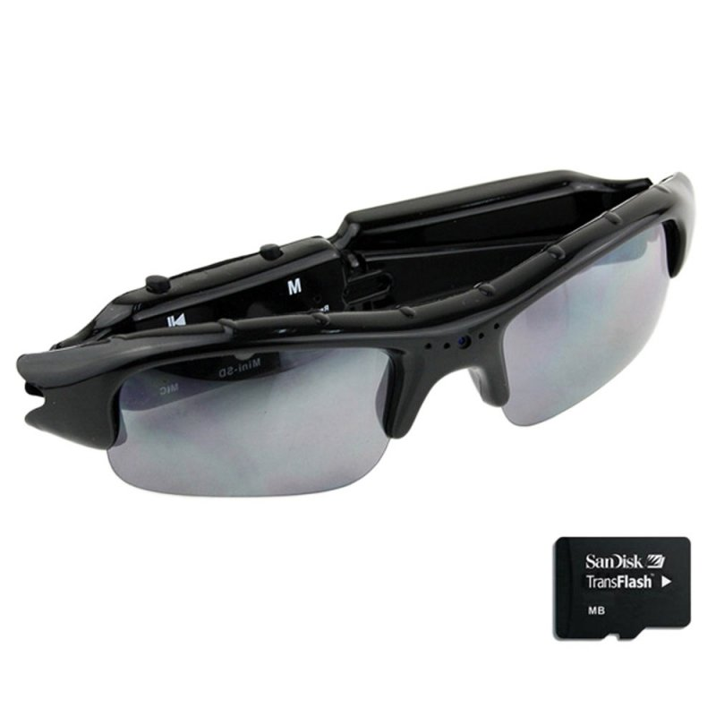 2GB Multifunction Video Sunglasses Mini HD DV DVR Hidden Camera Black TM86TT2780