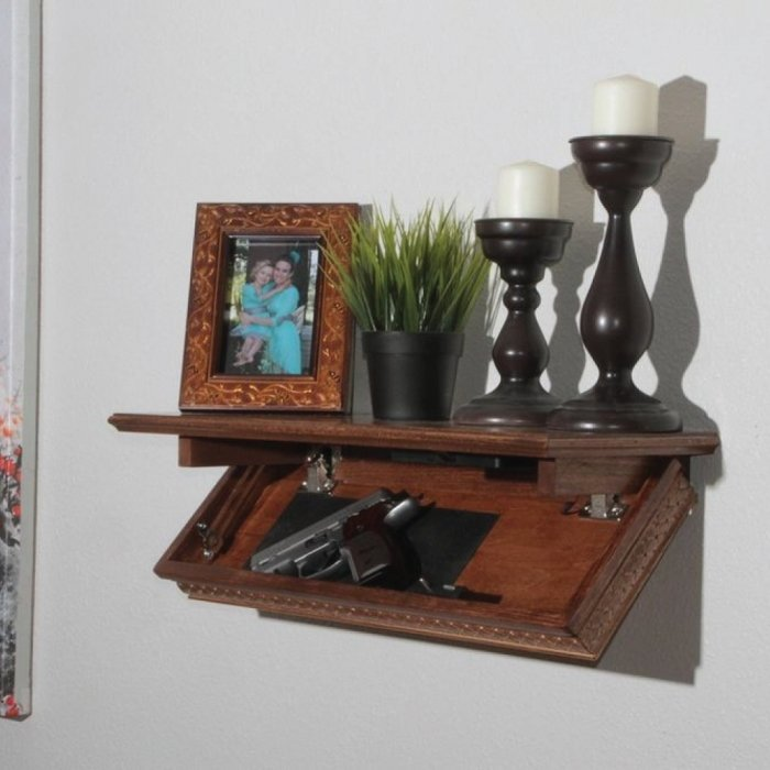 Quick Shelf Safe with RFID - Walnut