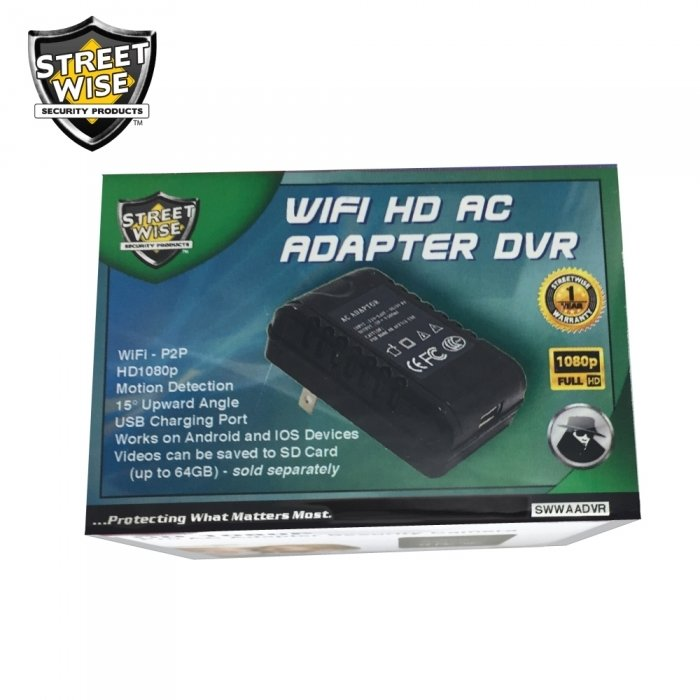 Streetwise WiFiHD AC Adapter DVR