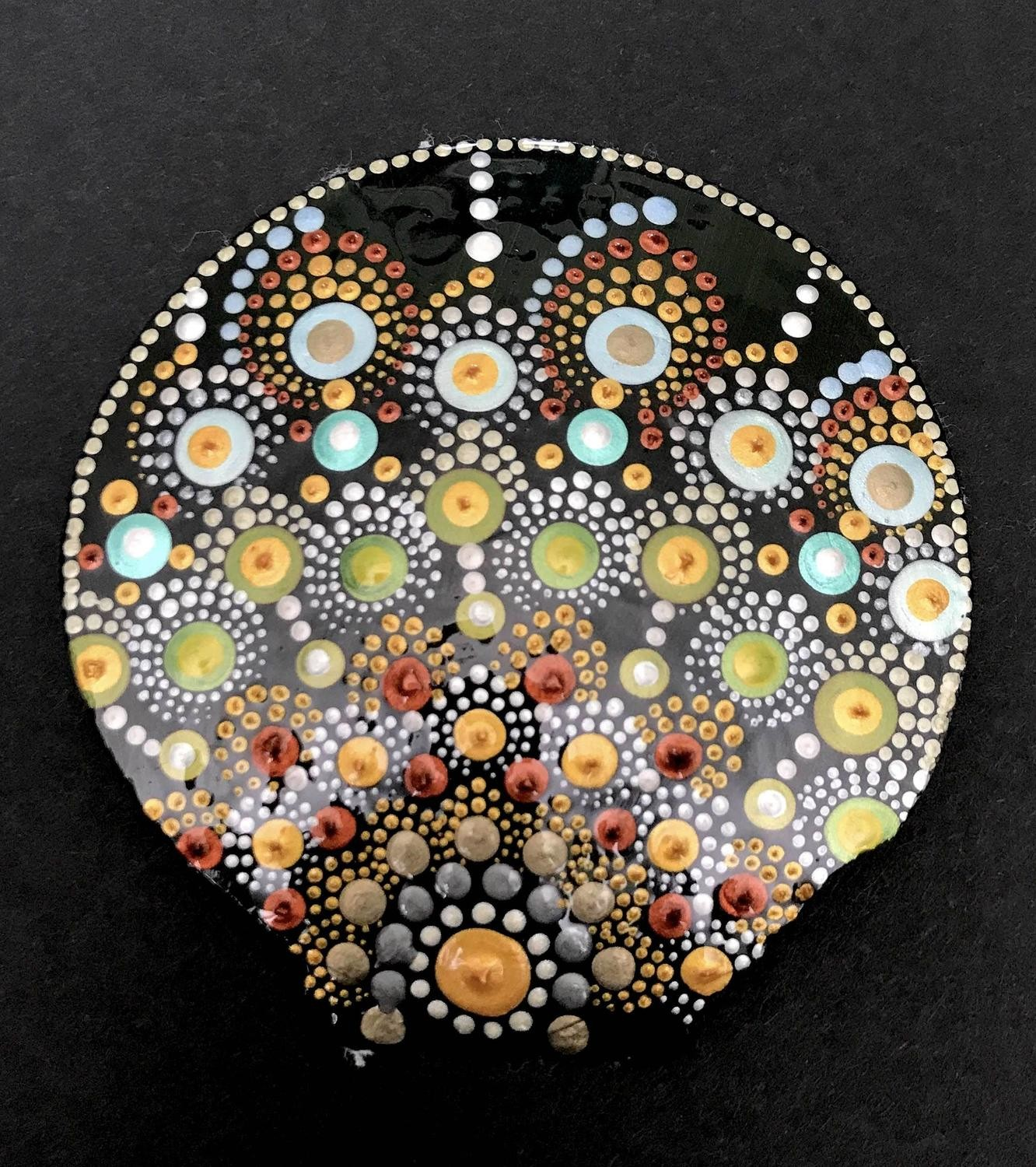 Sea Shell Dot Painting
