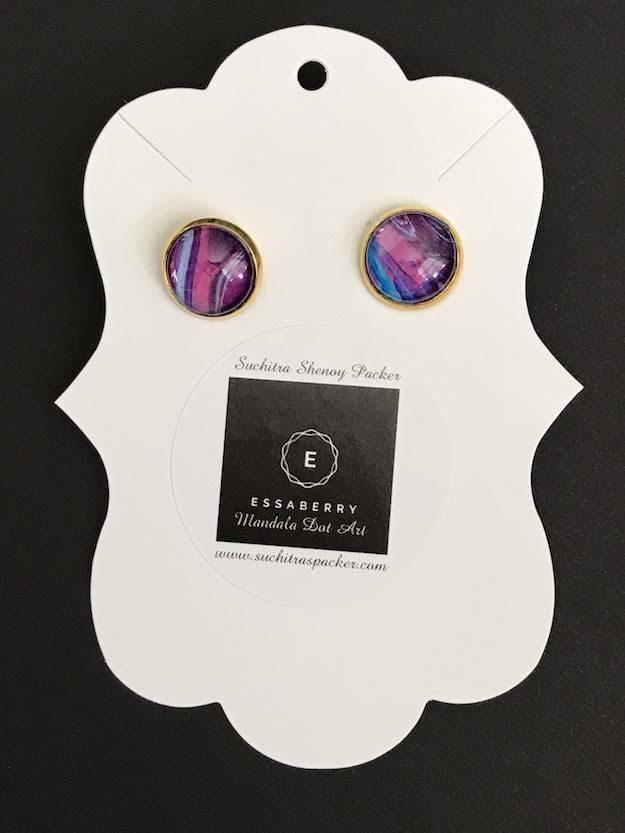 Fluid Art Galaxy Earrings