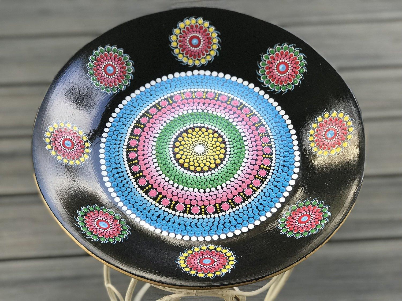 Metal Mandala Dot Art Bowl Decorative Unique Gift