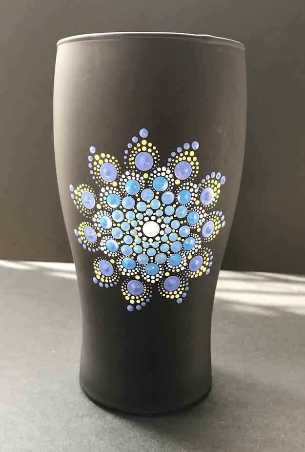 Dot Mandala Beer Beverage Glass