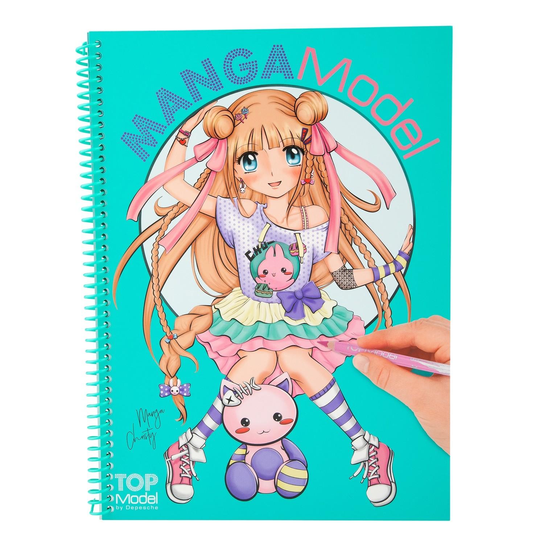 MangaModel Альбом для раскрашивания с наклейками