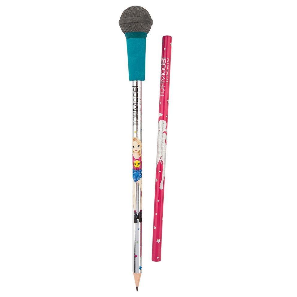 TOPModel Карандаши простые с ластиком Микрофон (синий дизайн)