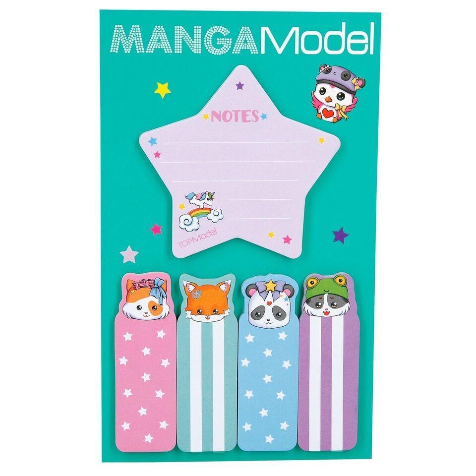 MANGAModel Стикеры для заметок Манга (зеленый дизайн)