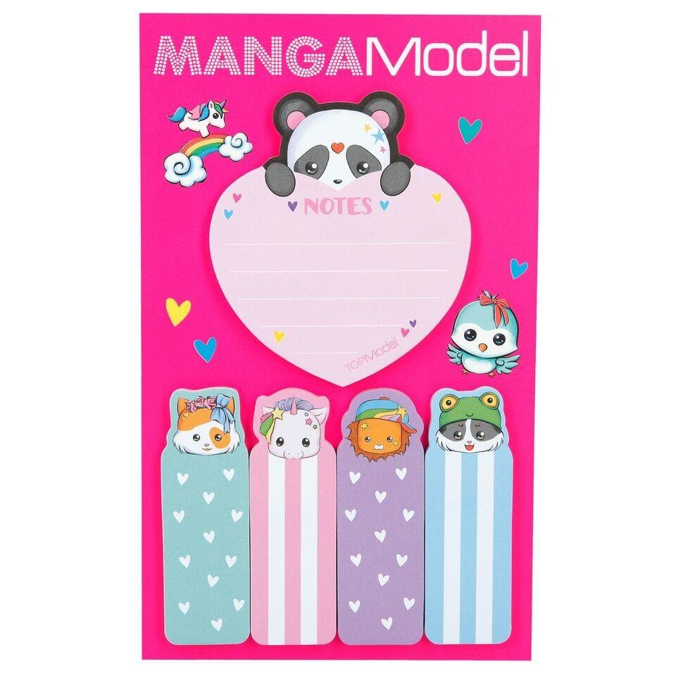 MANGAModel Стикеры для заметок Манга (розовый дизайн)