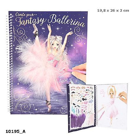 TOPModel Fantasy Альбом для раскрашивания Балерина