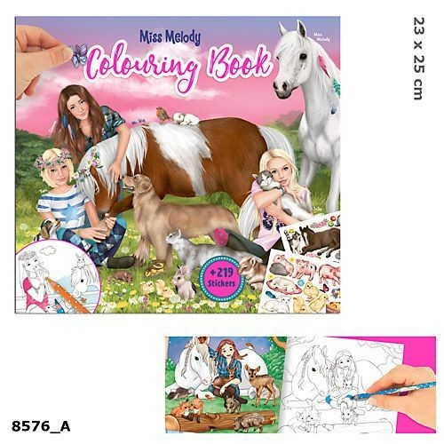 Miss Melody Альбом для раскрашивания Животные