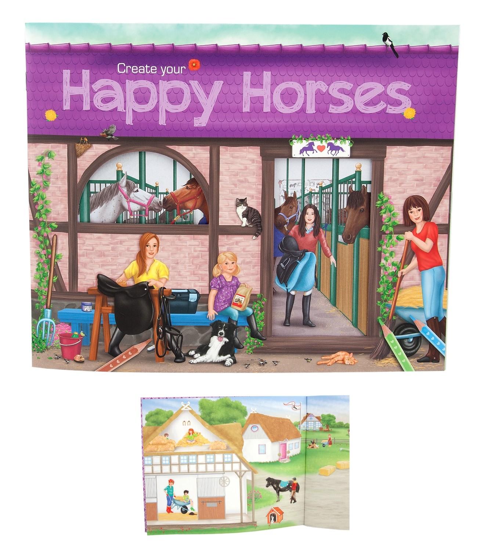 Creative Studio Альбом с наклейками Веселые Лошади