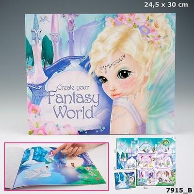 TOPModel Fantasy Альбом для раскрашивания Макияж