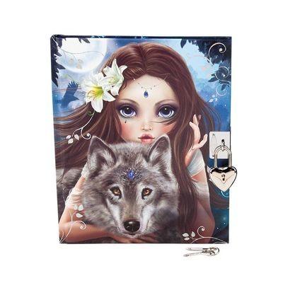 TOPModel Fantasy Дневник на замочке с ключами (Волк)
