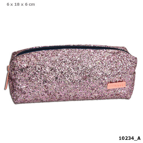 TOPModel Пенал или Косметичка розовые Блестки